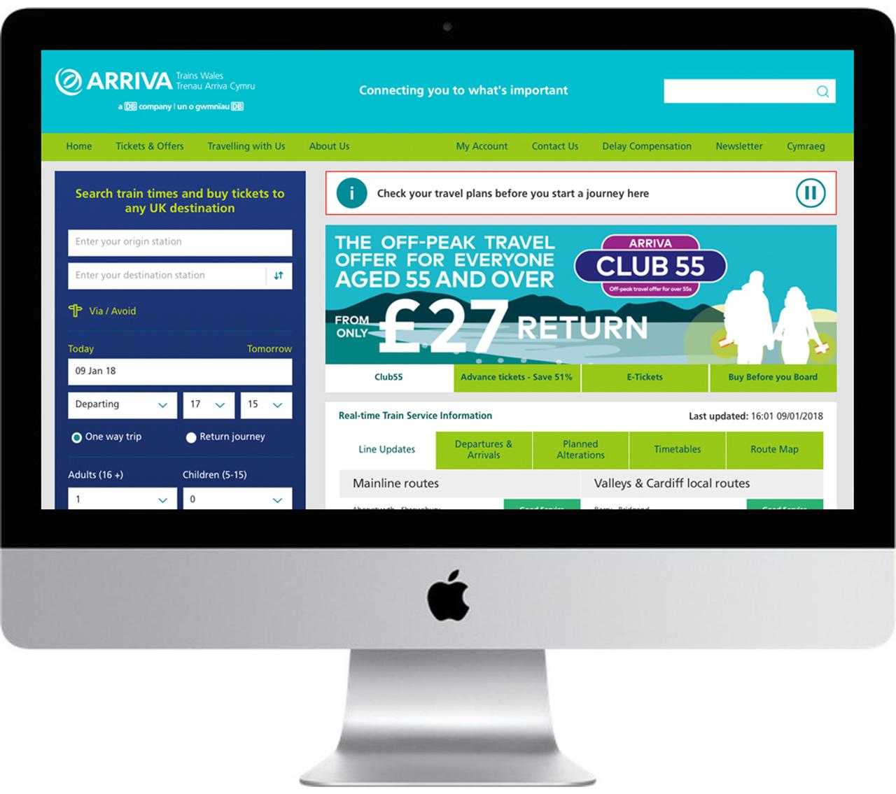 website showing banner advertising