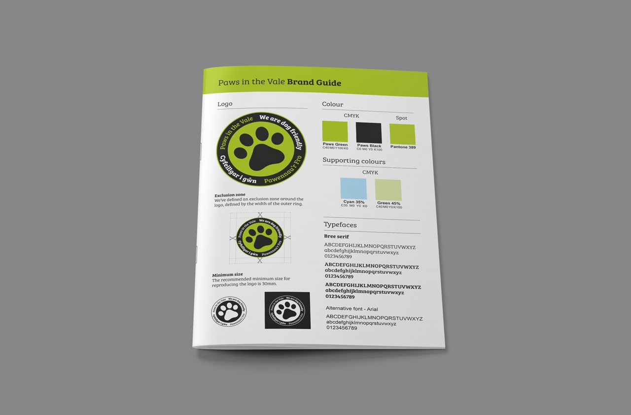 paws in the vale brand guidelines