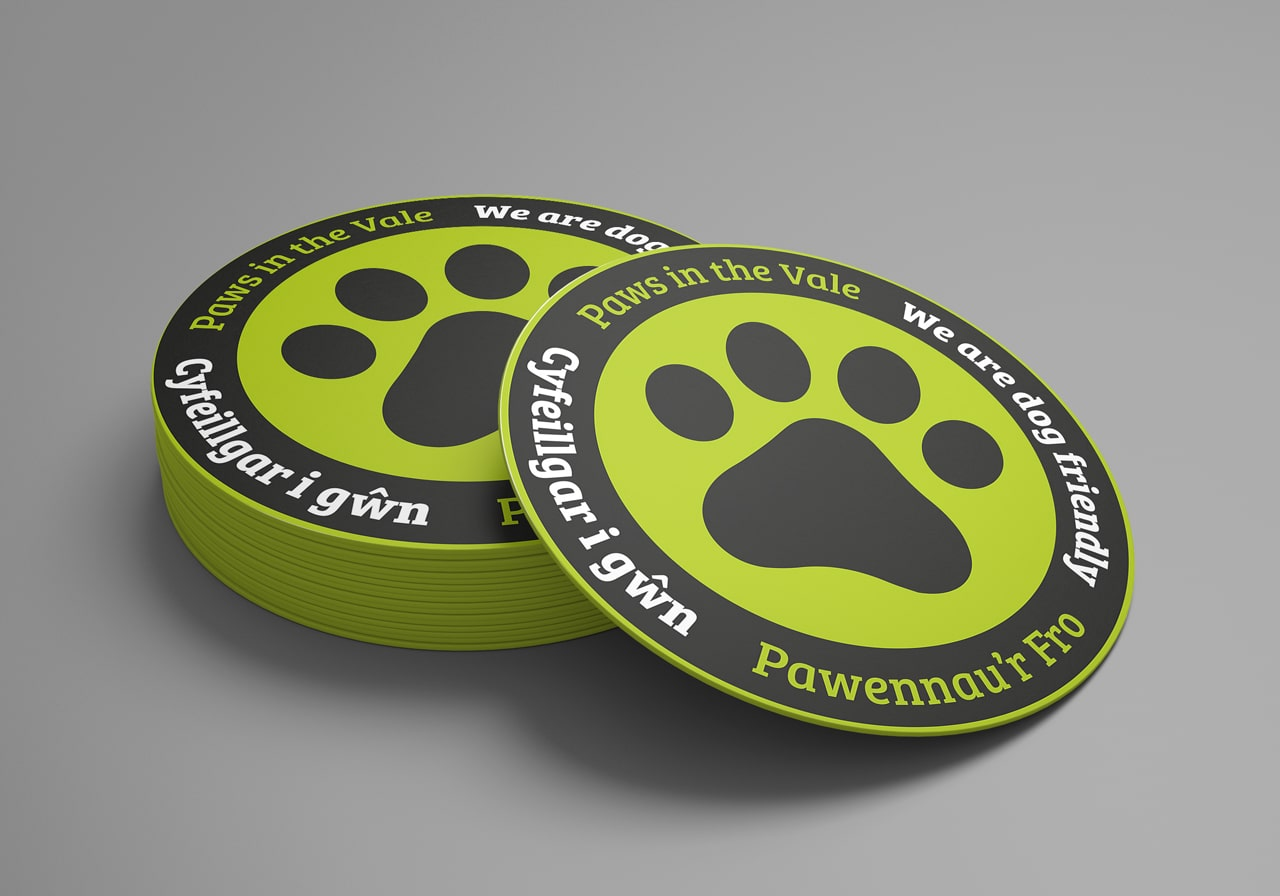 paws in the vale sticker