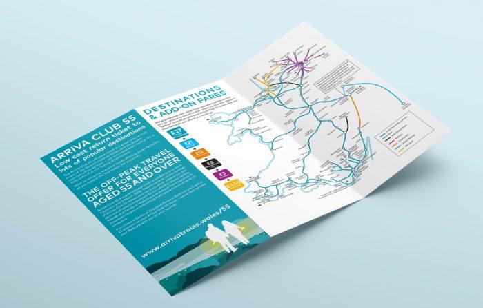 fold out leaflet opened
