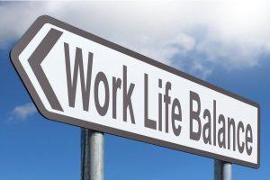 arrow showing work life balance