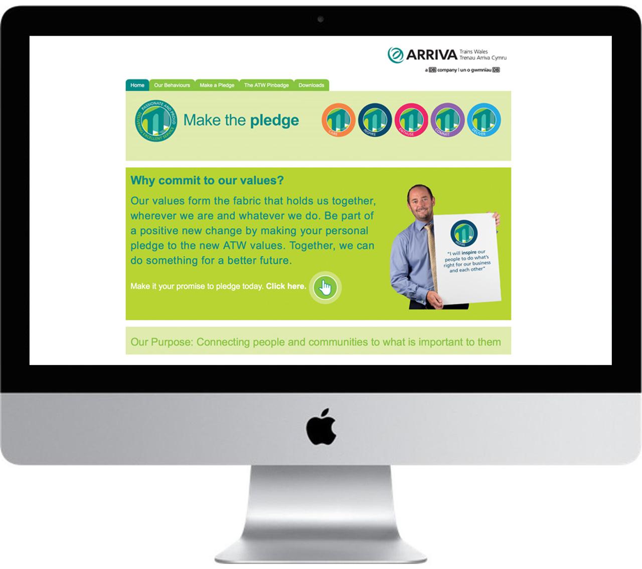 ATW make the pledge website internal communications